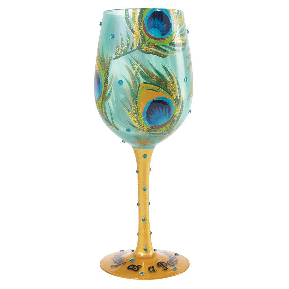 Lolita Wine Glass - Pretty as a Peacock-Glasses-Lolita Glasses-The Fabulous Gift Store
