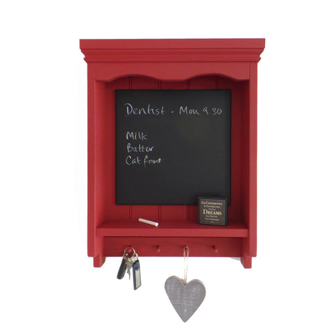 Handmade - Shelf Unit With Chalkboard - Red-Homewares-The Fabulous Gift Store-The Fabulous Gift Store