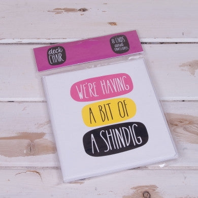 Deck Chair - 'We're Having A Bit Of A Shindig ' 8 Card Pack-Homewares-Really Good-The Fabulous Gift Store