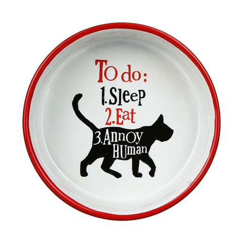 The Bright Side - Cat Bowl-Pet Accessories-The Bright Side-The Fabulous Gift Store