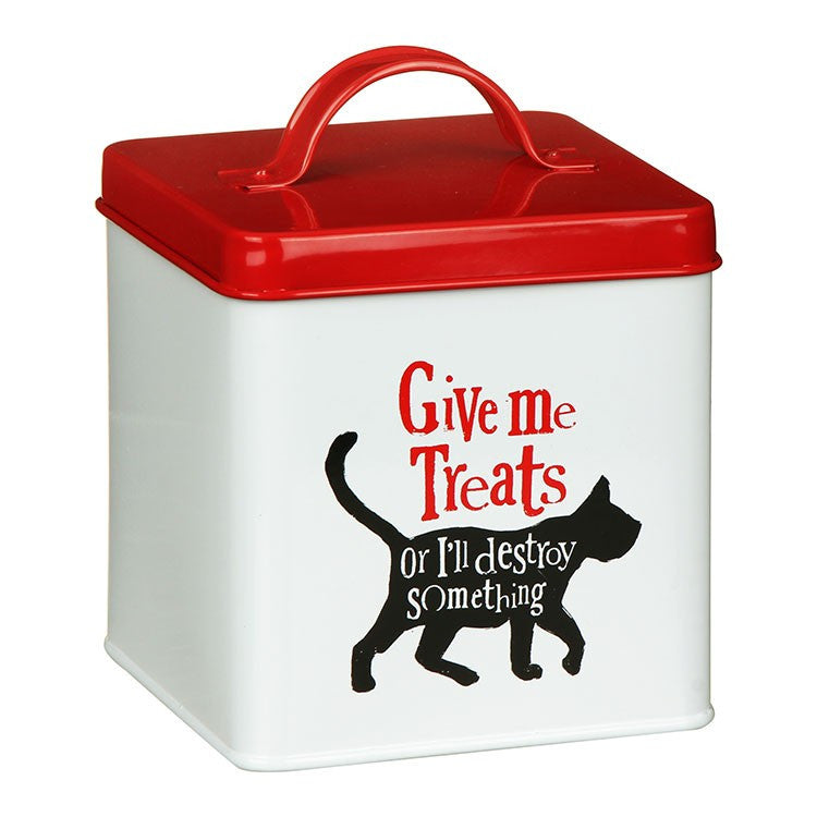 The Bright Side - Give Me Treats Cat Tin-Pet Accessories-The Bright Side-The Fabulous Gift Store