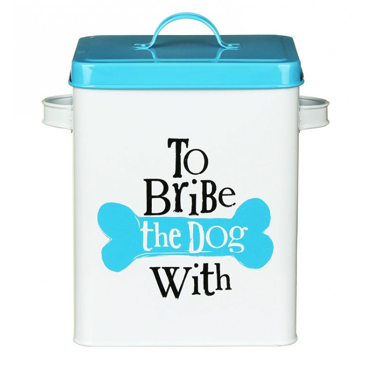 The Bright Side - To Bribe The Dog With Treats Tin-Pet Accessories-The Bright Side-The Fabulous Gift Store