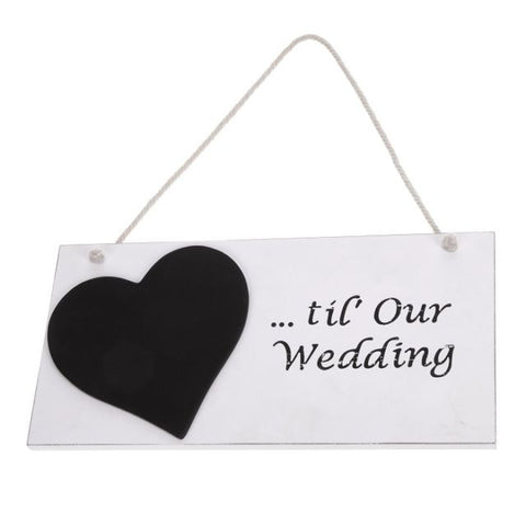Heaven Sends - 'Til Our Wedding' Chalkboard Count-Signs-Heaven Sends-The Fabulous Gift Store