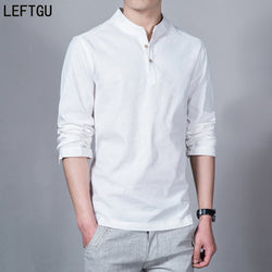casual Linen Long sleeve shirts