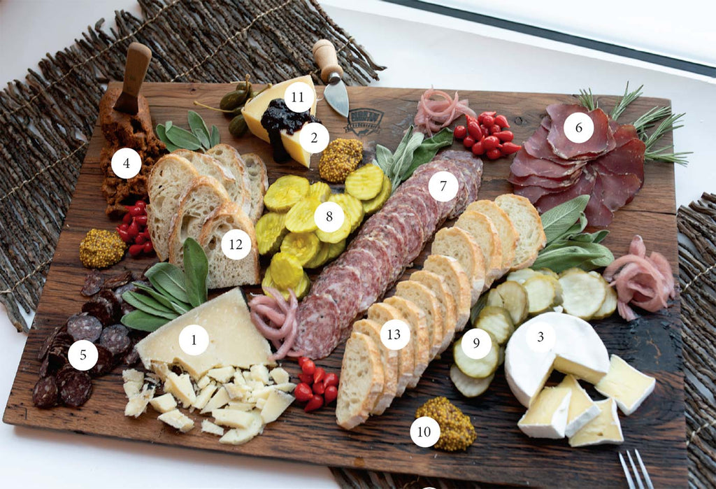 Charcuterie Board made with local Columbus ingredients