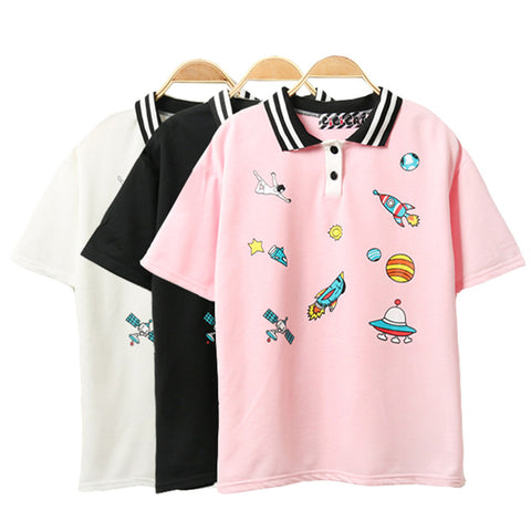 Harajuku Cartoon Printed T-Shirt
