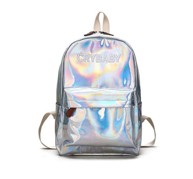 Holographic Crybaby Backpack