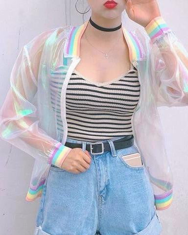 Pastel Windbreaker Jacket