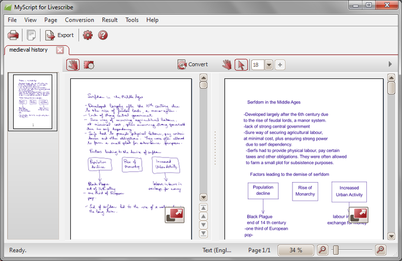 MyScript for Livescribe - Lifetime Licence