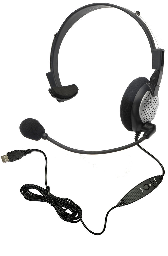 Andrea NC-181 VM USB On-Ear Mono (Monaural) Headset