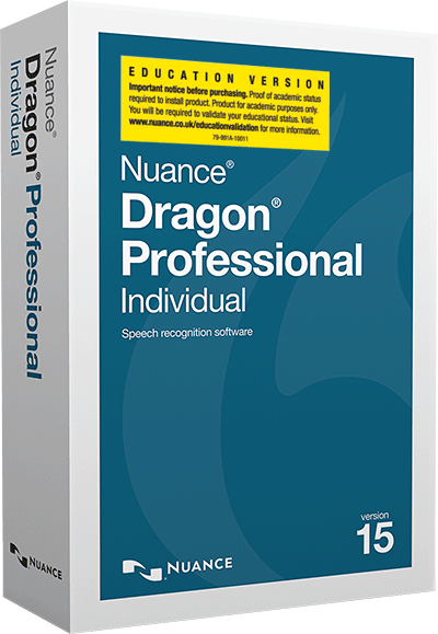 Dragon Professional Individual 15 Educational