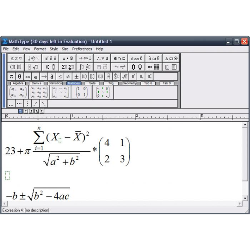 MathType For PC (Version 6.9)
