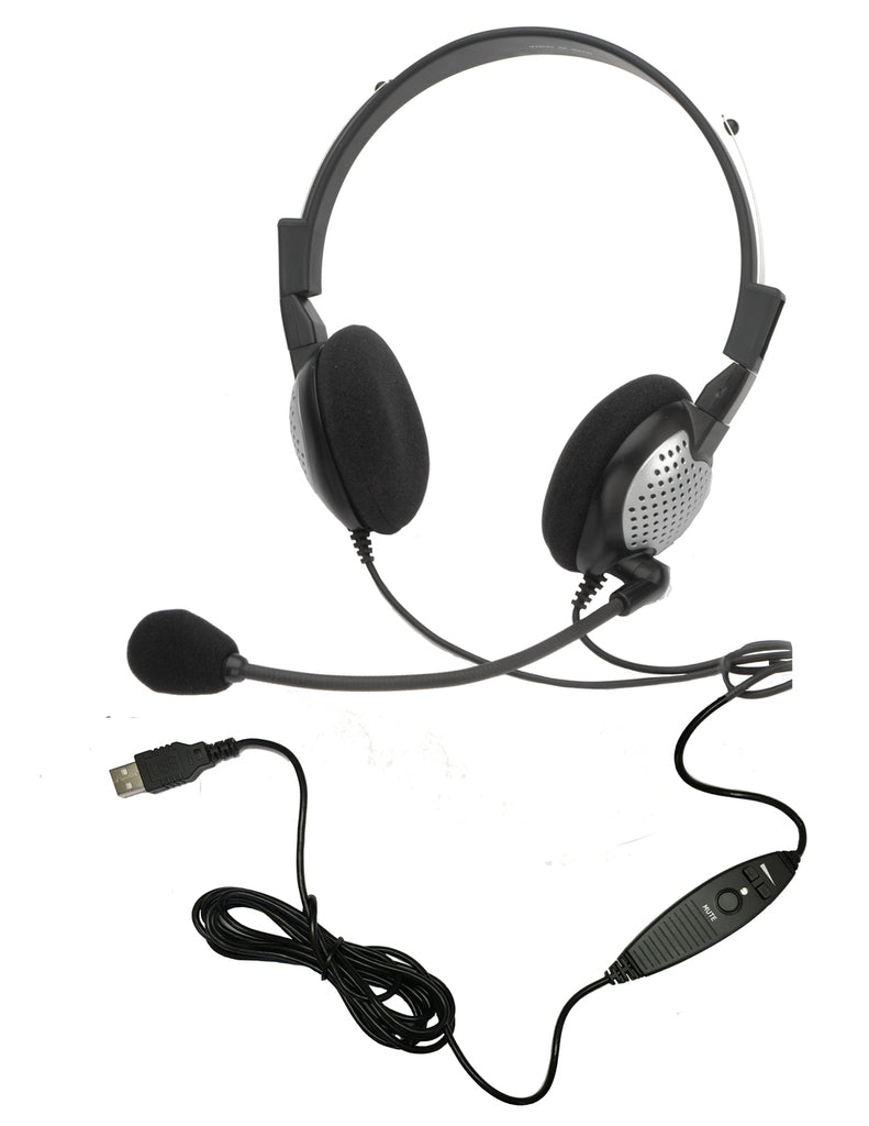 Andrea NC-185 VM USB On-Ear Mono (Stereo) Headset