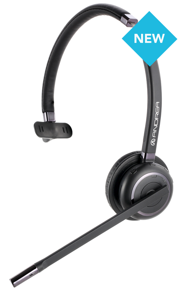 Andrea WNC-2100 On-Ear Noise Canceling Wireless Bluetooth Mono Headset