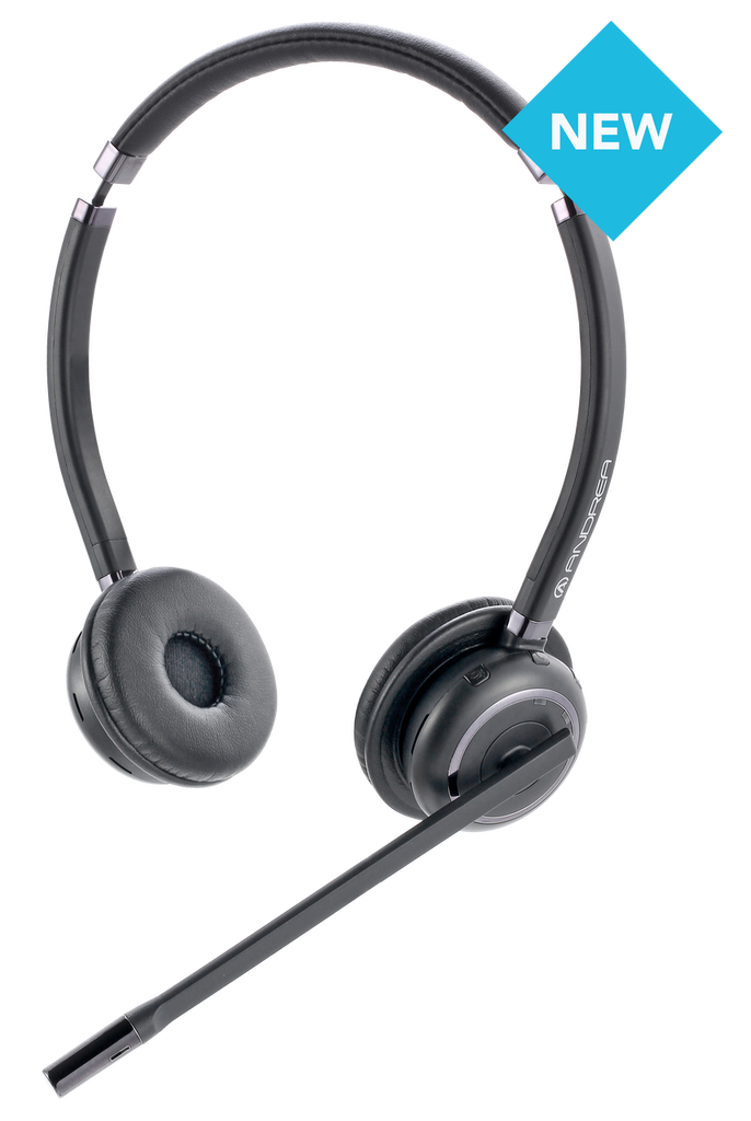 Andrea WNC-2500 Noise Canceling Wireless Bluetooth Stereo Headset