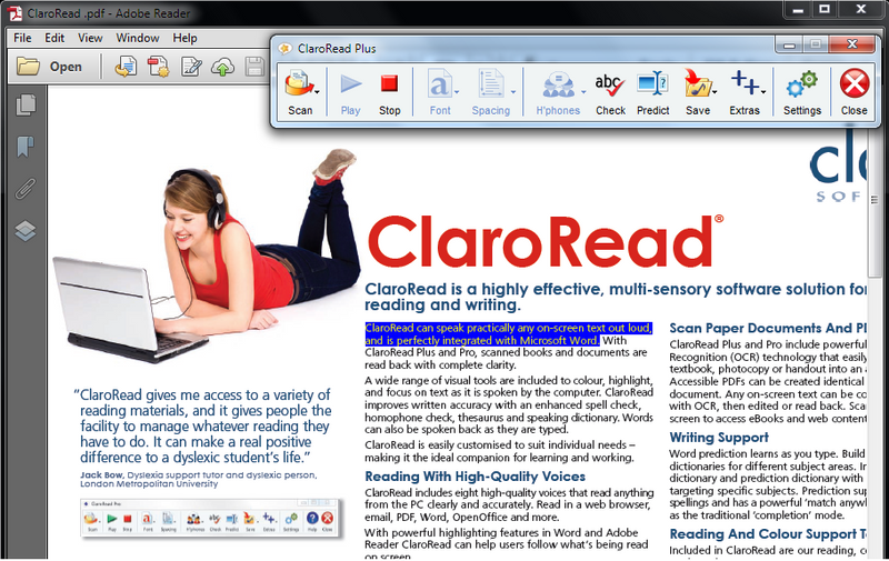 ClaroRead Plus for Windows PC (Version 7.1)