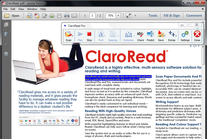 ClaroRead SE for Windows