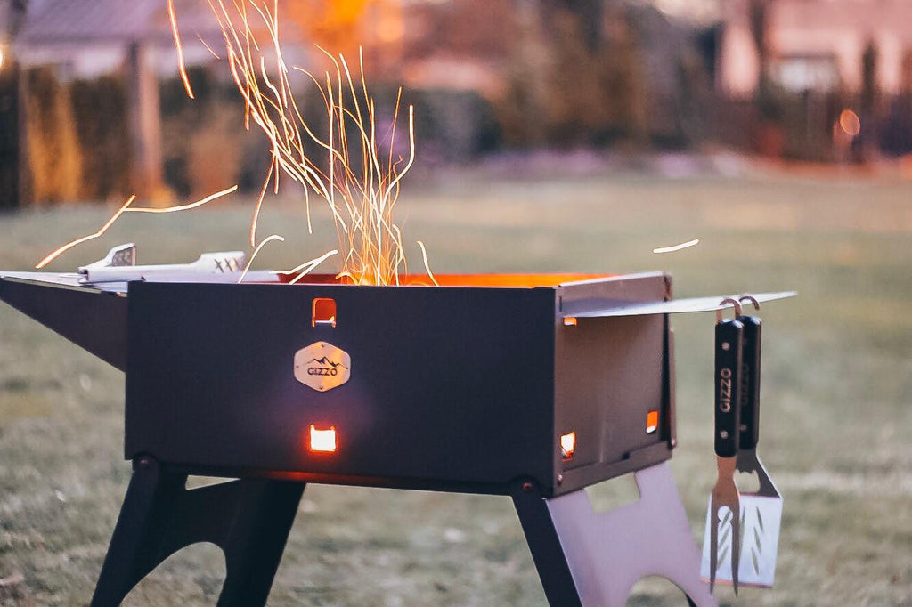 Gizzo Grill: The Perfectly Portable Charcoal Grill for Your Car, RV or Van