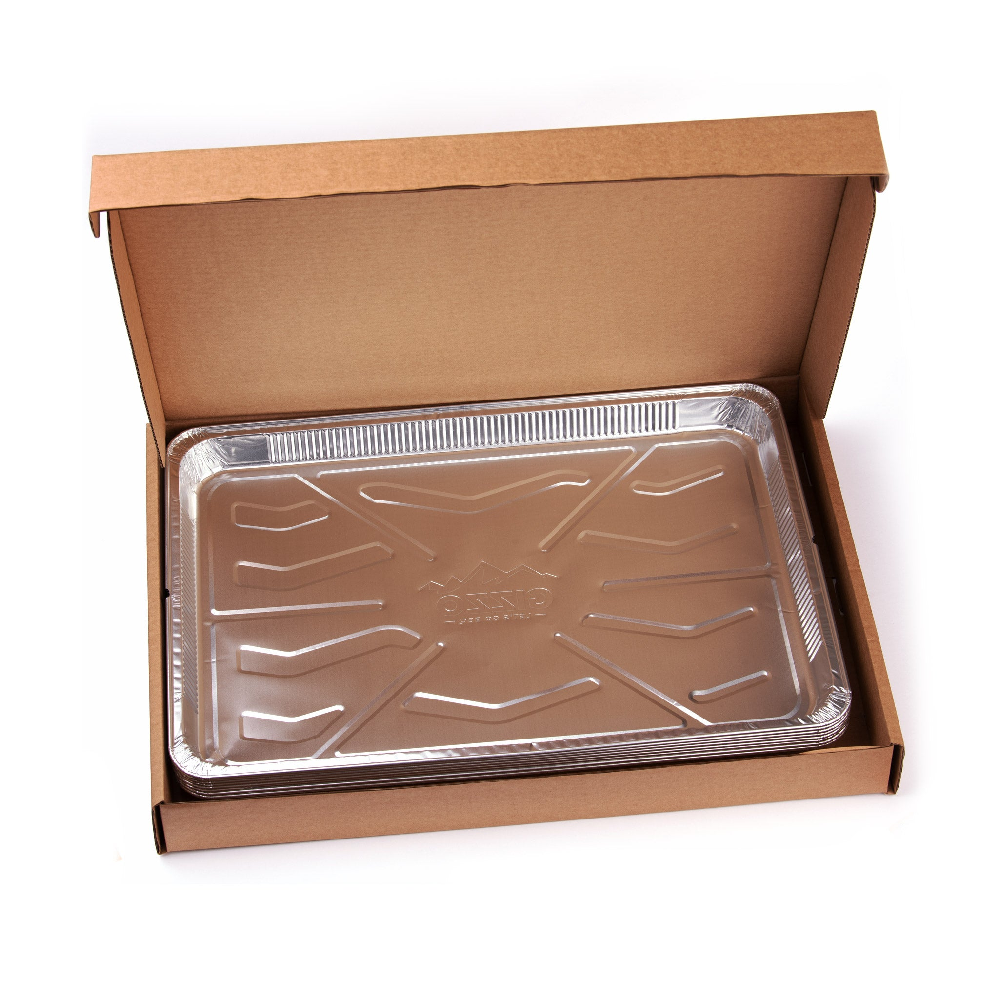 8x Easy Clean Foil Pans for barbecue