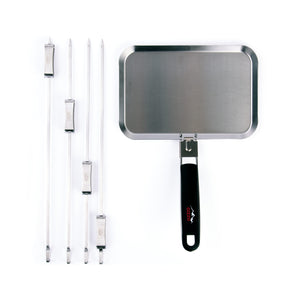 BBQ Pan + 4 Sliding Skewers gift set