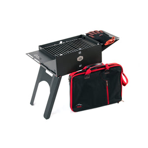 Barbecue Charcoal Grill Folding Portable BBQ Tool Kits for Outdoor Cooking Camping Hiking Picnics Tailgating Backpacking or Any Outdoor Event