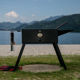 Charger l'image dans la galerie, Foldable Portable Charcoal Grill with travel case bbq tools set gloves travel friendly for camping picnic