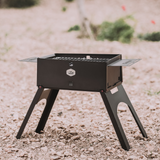 Load image into Gallery viewer, foldable charcoal grill folding with travel case bbq gloves side table easy clan start compact mobile mini small