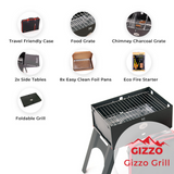 Load image into Gallery viewer, small portable grill with travel friendly case of laptop