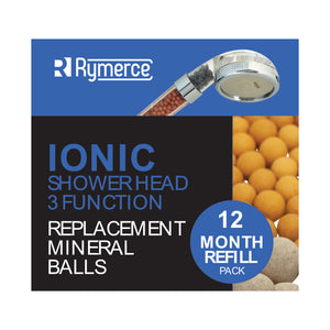 Ion Mineral Ball Refill 12 Month Replacement Pack for Ionic Shower Head 3 Function