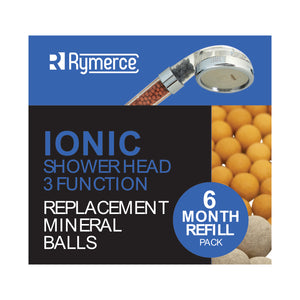 Ion Mineral Ball Refill 6 Month Replacement Pack for Ionic Shower Head 3 Function