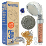 Ionic Shower Head 3 Function with Refill Pack and Hose