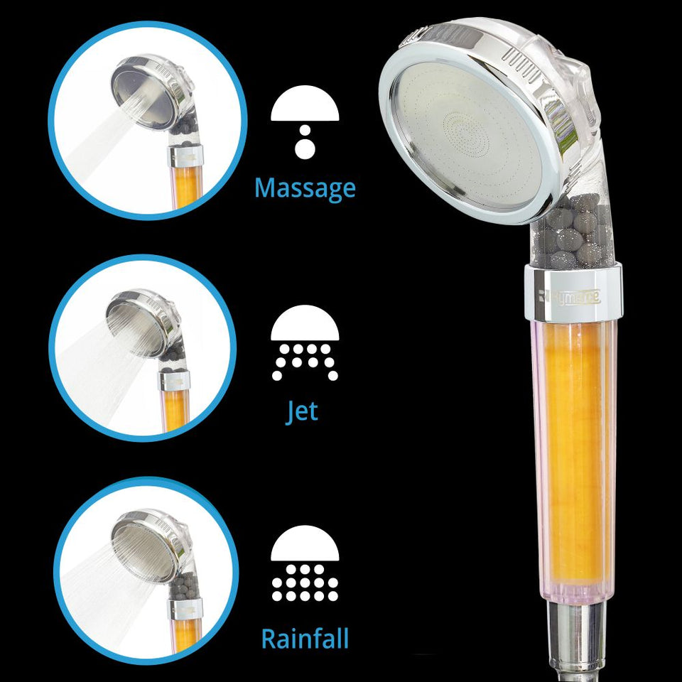 Ionic Shower Head Handheld Aroma - Vitamin C 3way Function Filter Bead Replacement High Pressure Water Saving