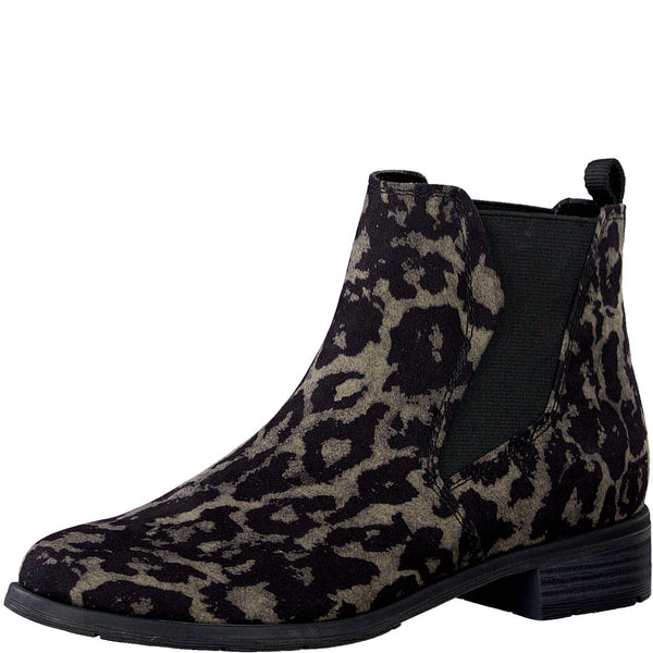Marco Tozzi 25321 Black Multi Animal Print
