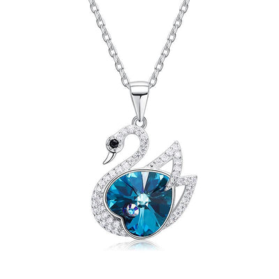 Davena Blue Series Swan Shape Necklace - Davena watches