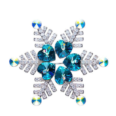 Davena Blue Purple Snowflake Brooches - Davena watches