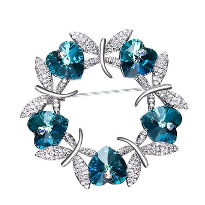 Luxury Blue Purple Butterfly Brooches - Davena watches