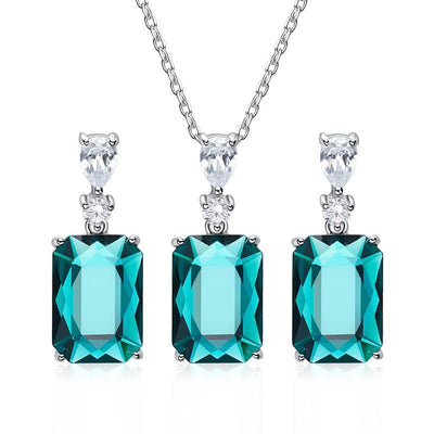 Davena Square Gem Jewelry Set - Davena watches