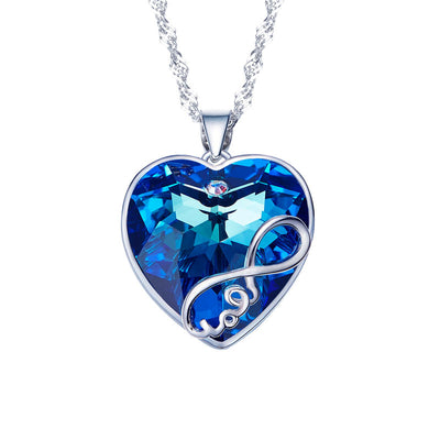 Davena Blue Purple Series Heart Necklace - Davena watches