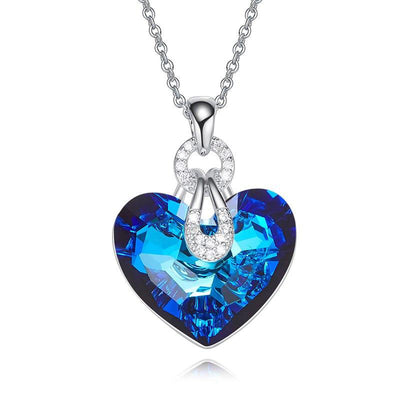 Davena Blue AB Color Heart Shaped Pendants - Davena watches