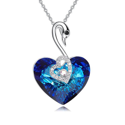 Davena Fashion Heart Shaped Blue Necklaces - Davena watches