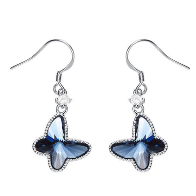 Davena Blue Butterfly Dangle Earrings - Davena watches