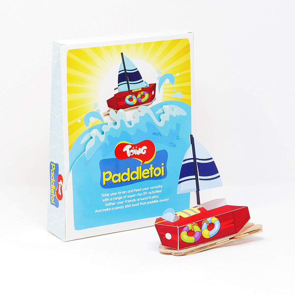 Toiing Paddletoi - DIY Rubberband Paddle Boat for Kids, Stem Science Learning Project