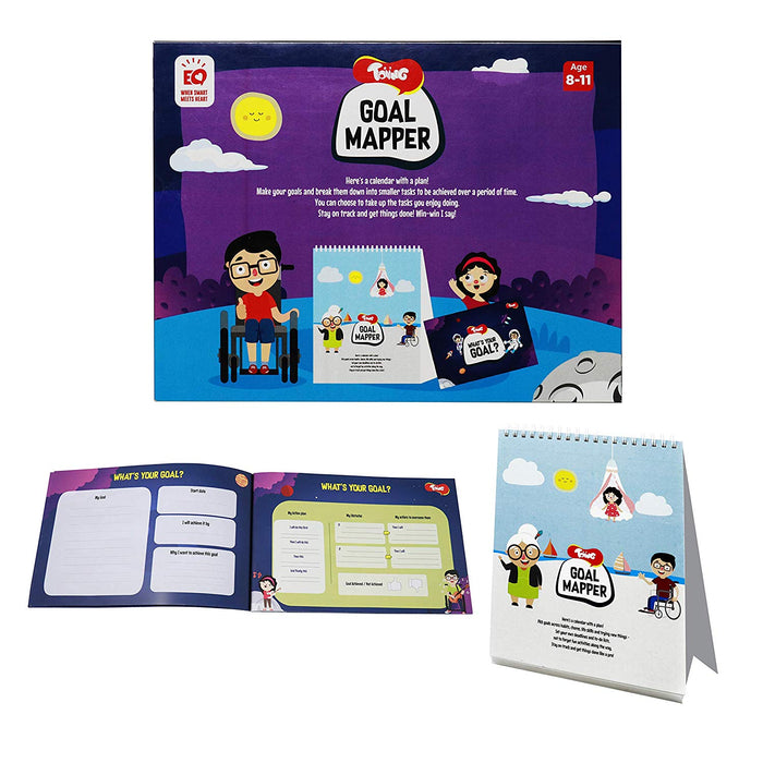Toiing Goal Mapper - Calendar with Goal Map Book to Have Fun Learning Goal-Setting