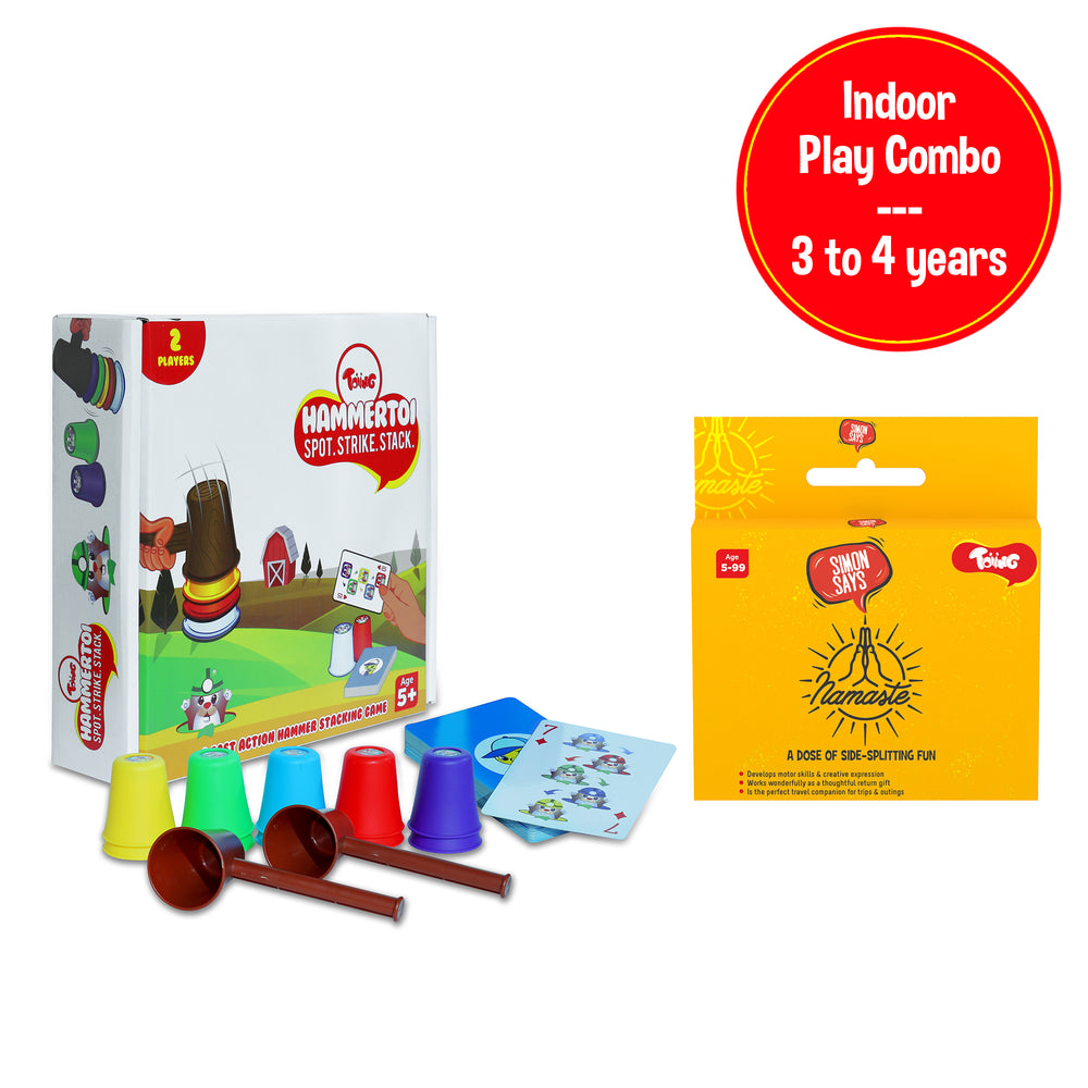 Indoor Play Combo - Hammertoi & Simon Says Card Game, for 3 to 4 years old