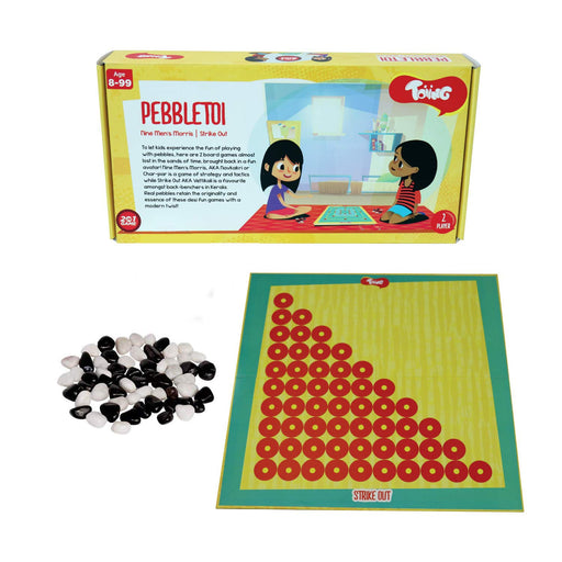 Pebbletoi 2-in-1 Traditional Indian Fun Strategy Board Game, For Kids Age 8+ Years
