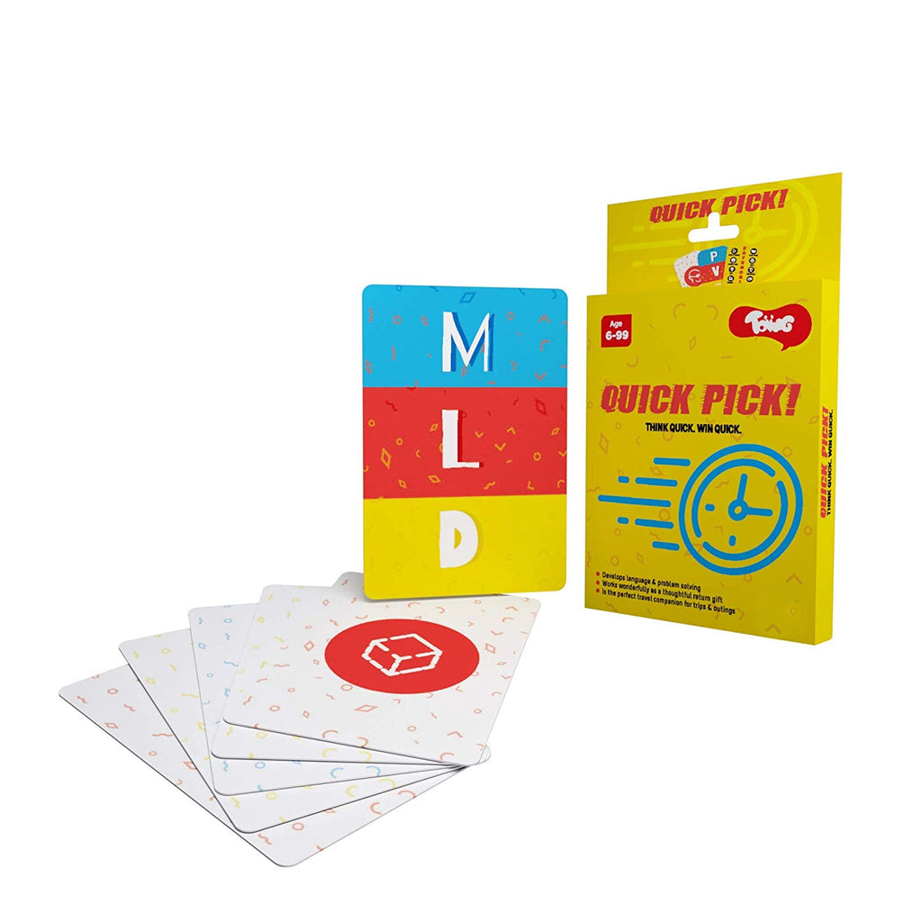 Toiing Quick Pick Educational Card Games for Kids  (Multi Color)