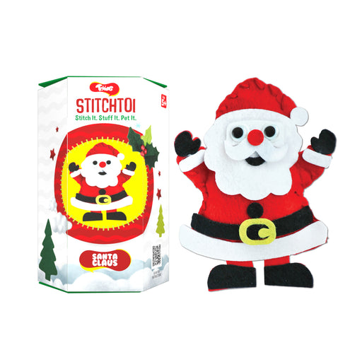 Toiing StitchToi - DIY Felt Toy Stitching kit for 5-10 Years Old Kids (Santa)