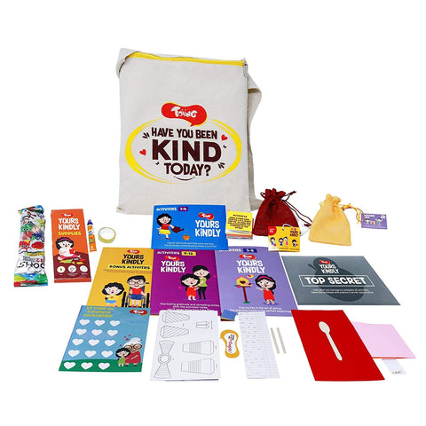 Toiing Yours Kindly - Experiential Learning Kit with 15 Activities for 5-10 Year Old Kids to Develop Empathy & Kindness