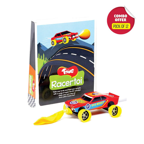 Toiing Racertoi Return Gift Combo - Pack of 12 DIY Balloon Powered Race Car for Kids, STEM Science Learning Project…