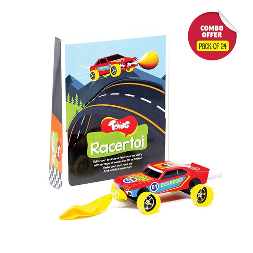 Toiing Racertoi Return Gift Combo - Pack of 24 DIY Balloon Powered Race Car for Kids, STEM Science Learning Project…
